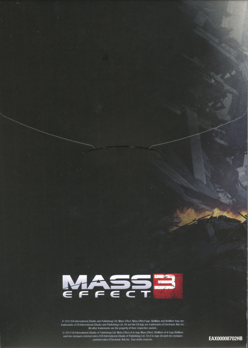 Mass Effect 3 (N7 Collector's Edition) PlayStation 3 Other Extras Cardboard Box - Back