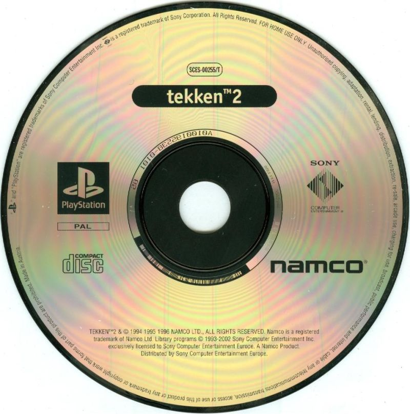 Tekken 2 / Soul Blade PlayStation Media <i>Tekken 2</i> disc