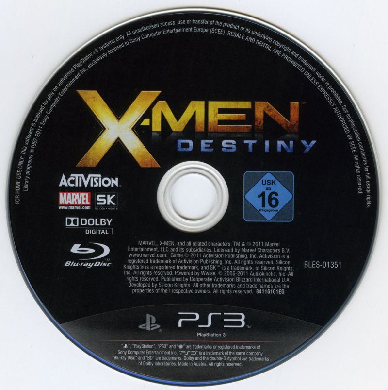 X-Men: Destiny PlayStation 3 Media