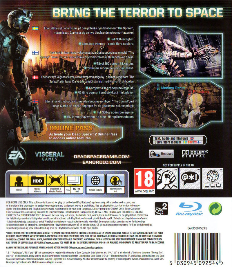 dead space 2 2011 playstation 3 box cover art mobygames rh mobygames com dead space 3 manual pdf dead space 3 manual crank