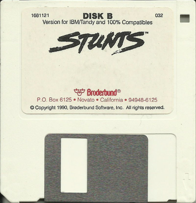 "Stunts DOS Media 3.5"" Disk B (Alternate Label)"