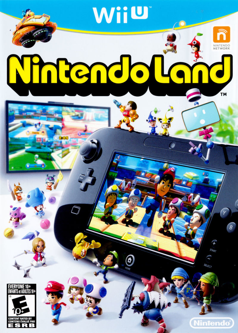 Nintendo Land Wii U Front Cover