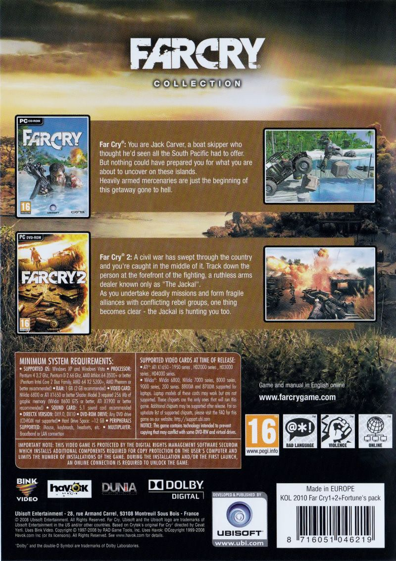 Far Cry: Complete Windows Back Cover