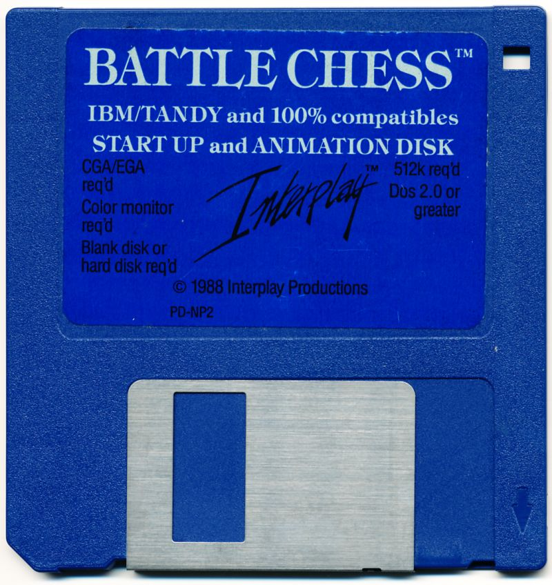 "Battle Chess DOS Media 3.5"" Floppy Disk"