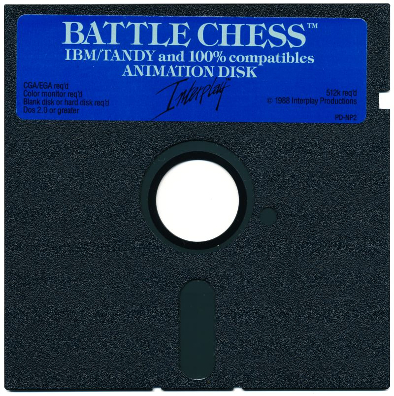 "Battle Chess DOS Media 5.25"" FD - Animation Disk"