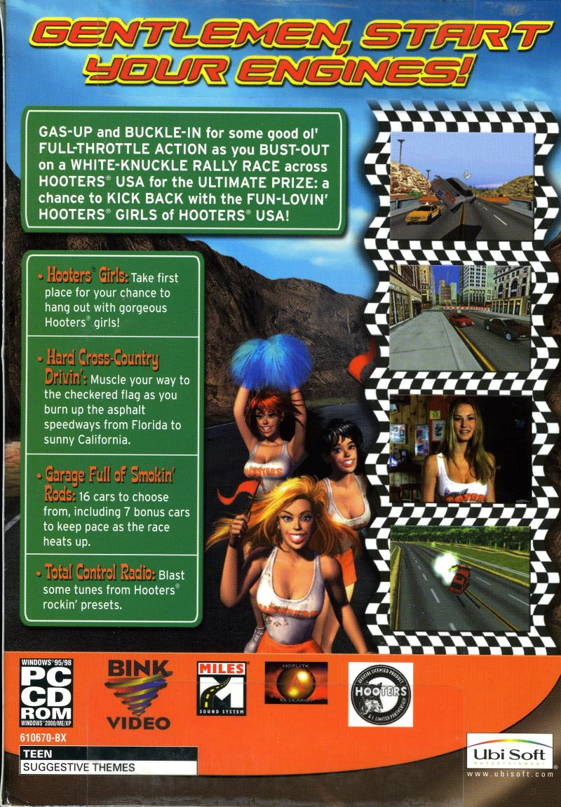 Hooters: Road Trip Windows Back Cover