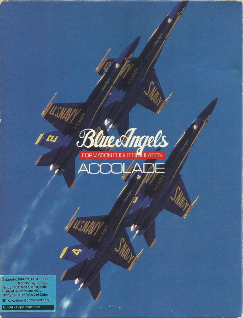 Blue Angels: Formation Flight Simulation DOS Front Cover