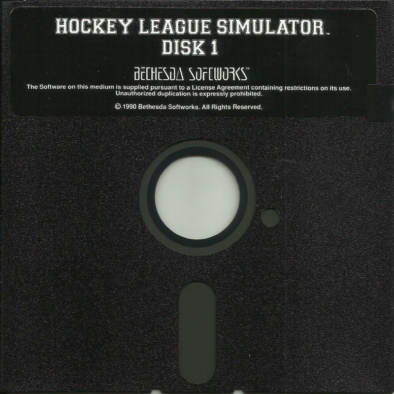 "Hockey League Simulator DOS Media 5.25"" Disk (1/2)"