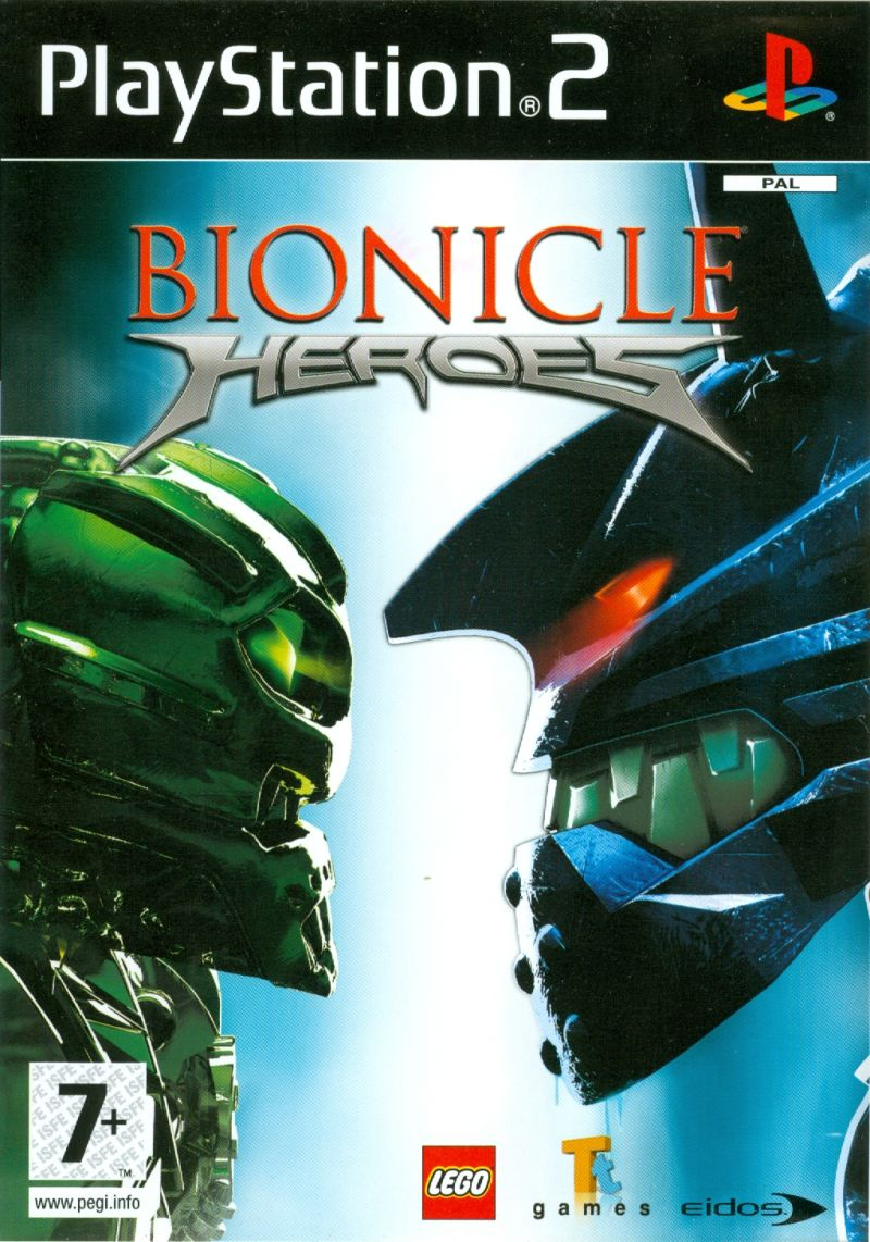 BIONICLE Heroes PlayStation 2 Front Cover