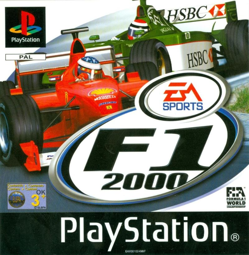 F1 2000 PlayStation Front Cover