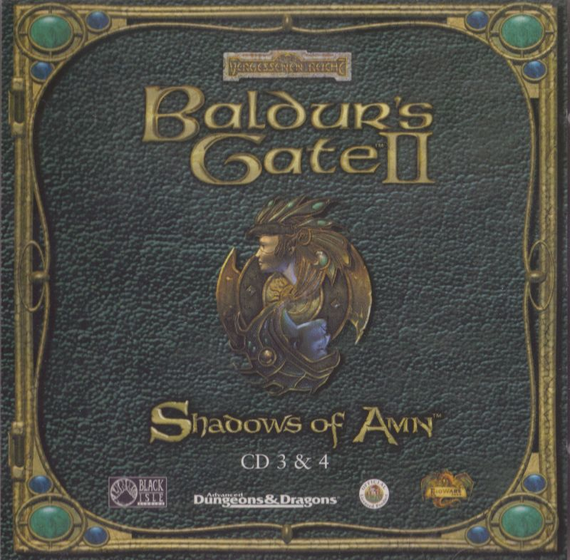 Baldur's Gate II: Shadows of Amn Windows Other Jewel Case - Front - CD 3 & 4
