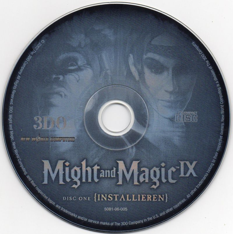 Might and Magic IX Windows Media Disc 1/2