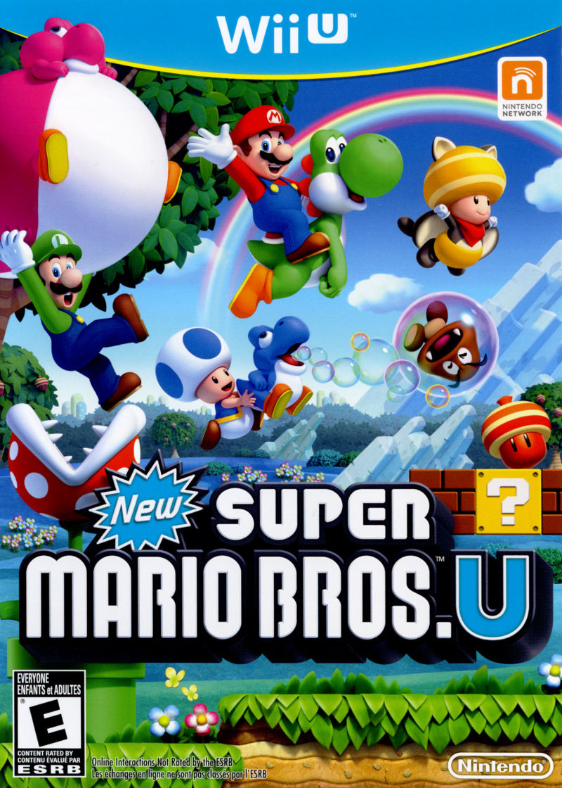 New Wii U Games 2013 : New super mario bros u wii box cover art mobygames