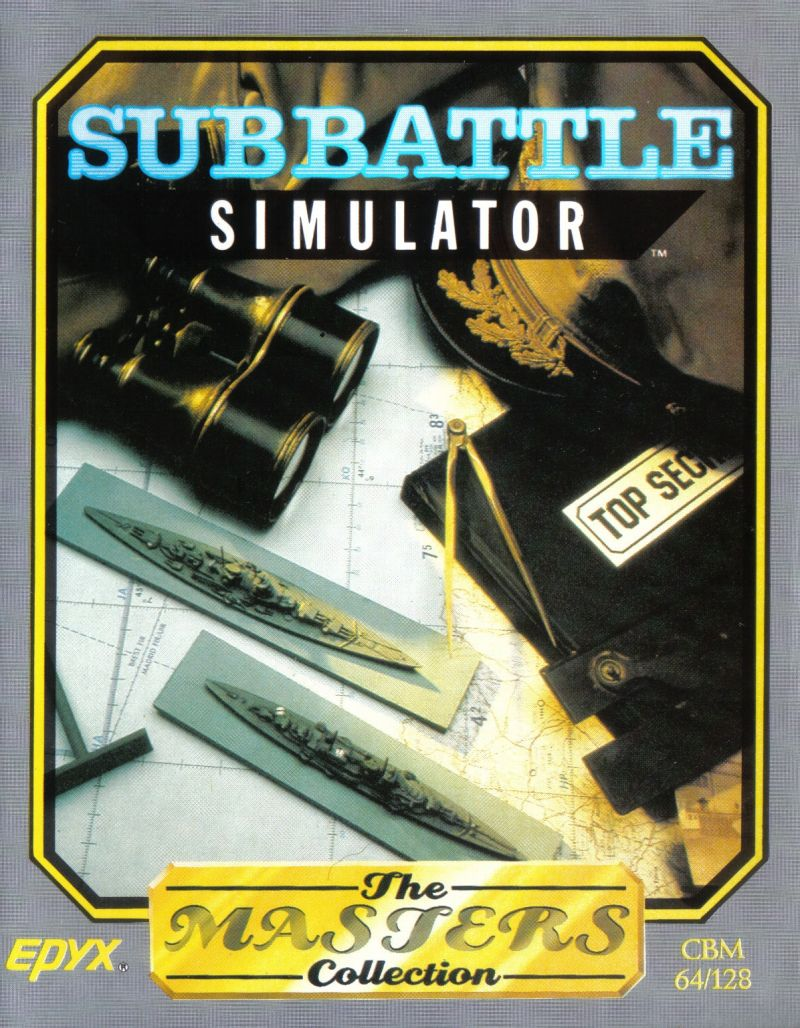 Sub Battle Simulator Commodore 64 Front Cover