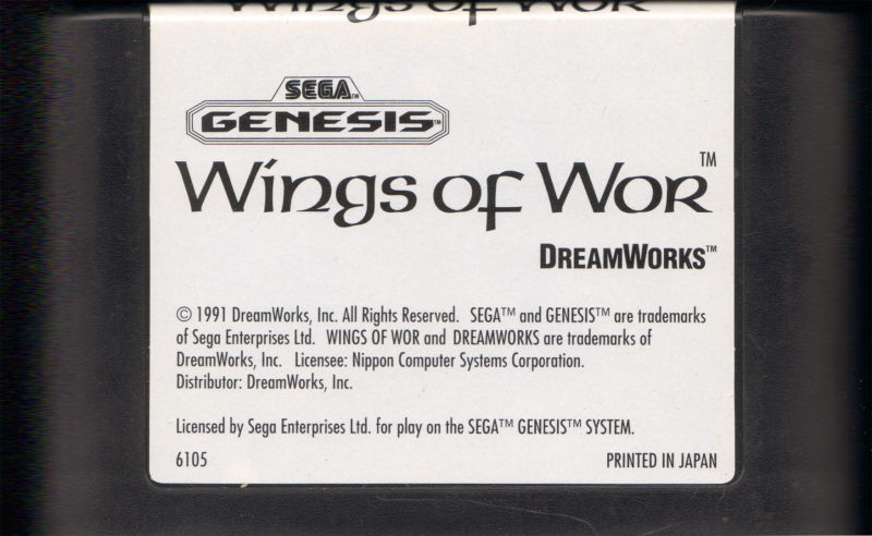 Wings of Wor Genesis Media