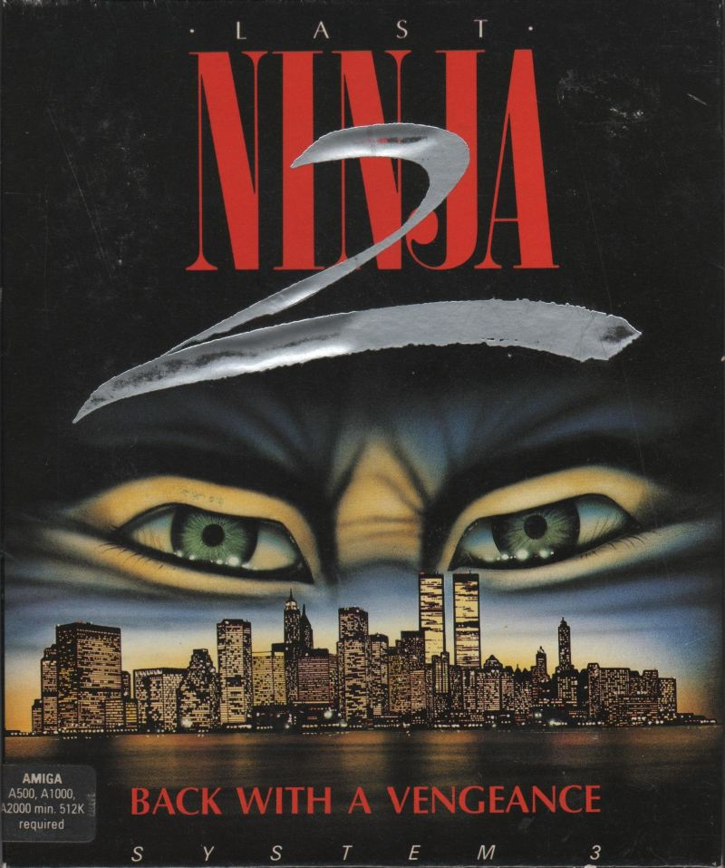 Last Ninja 2: Back with a Vengeance Amiga Front Cover