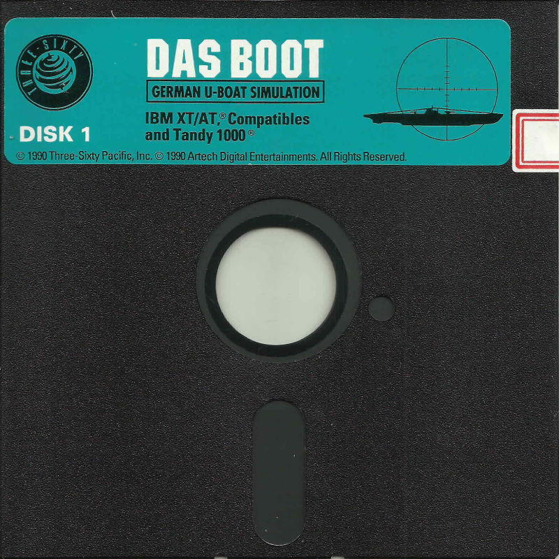 "Das Boot: German U-Boat Simulation DOS Media 5.25"" Disk (1/3)"