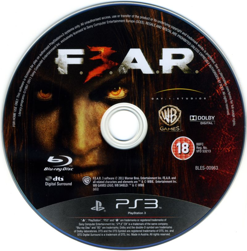 F.3.A.R. PlayStation 3 Media