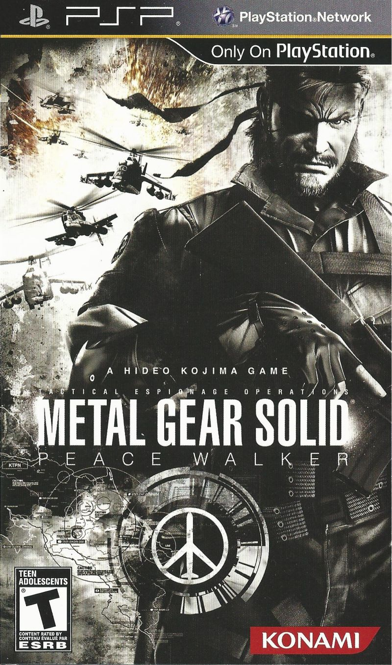 Metal Gear Solid: Peace Walker (2010) box cover art - MobyGames