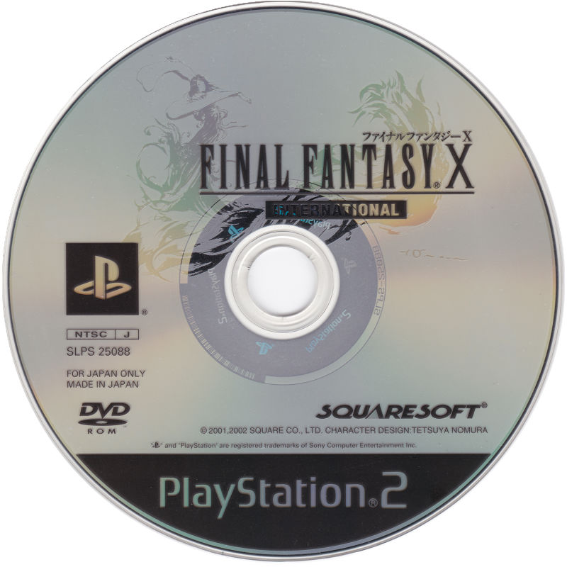 Final Fantasy X International PlayStation 2 Media Game Disc