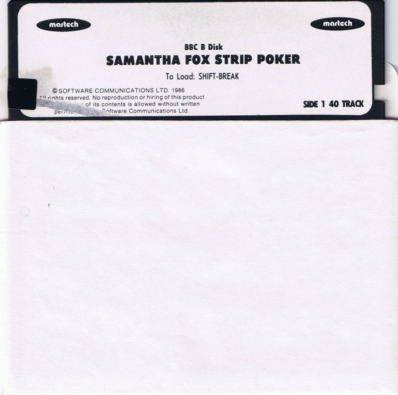 Samantha Fox Strip Poker BBC Micro Media