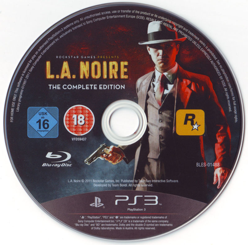 L.A. Noire: The Complete Edition PlayStation 3 Media