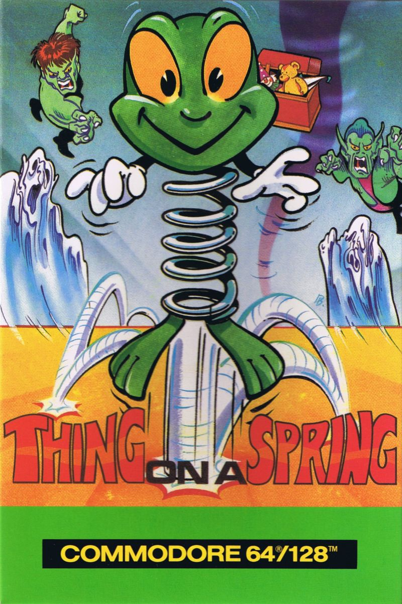 Thing on a Spring Commodore 64 Front Cover