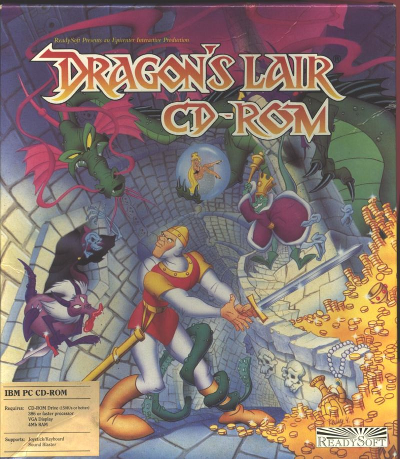 Dragon's Lair DOS Front Cover