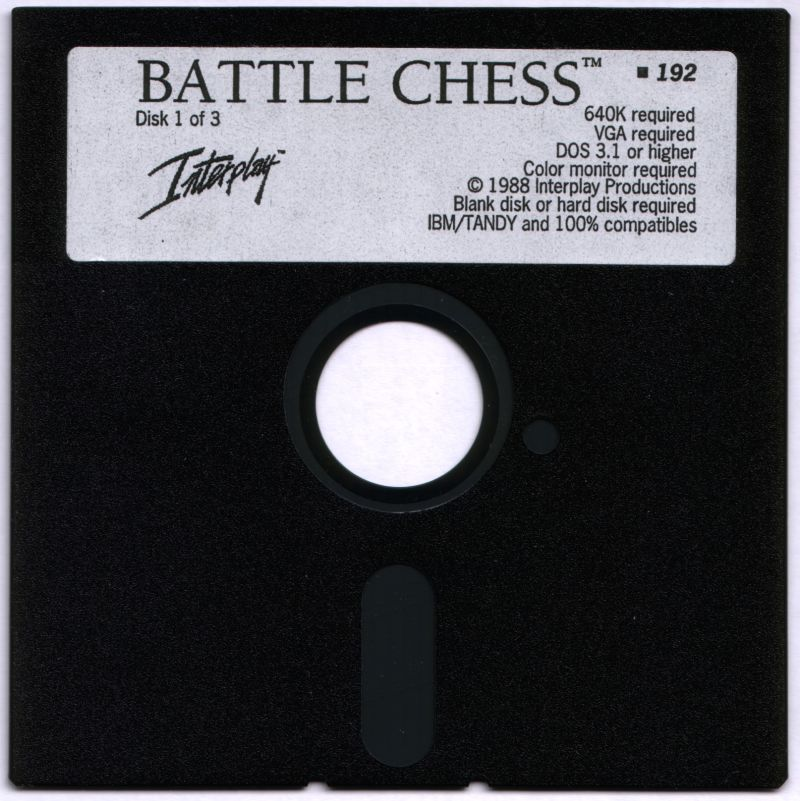 "Battle Chess DOS Media 5.25"" Floppy Disk 1"