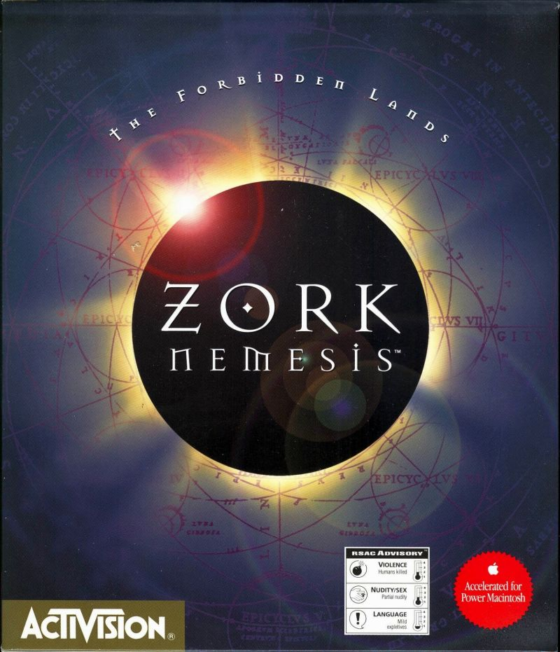 Zork Nemesis: The Forbidden Lands Macintosh Front Cover