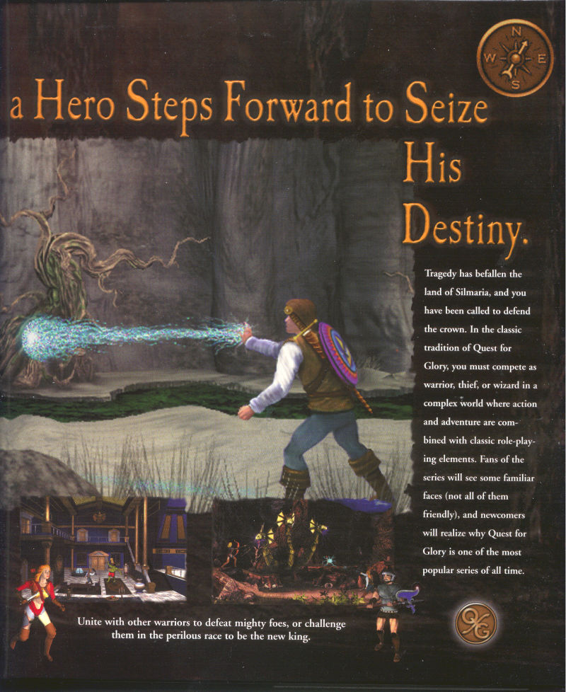 Quest for Glory V: Dragon Fire Macintosh Inside Cover Right Flap