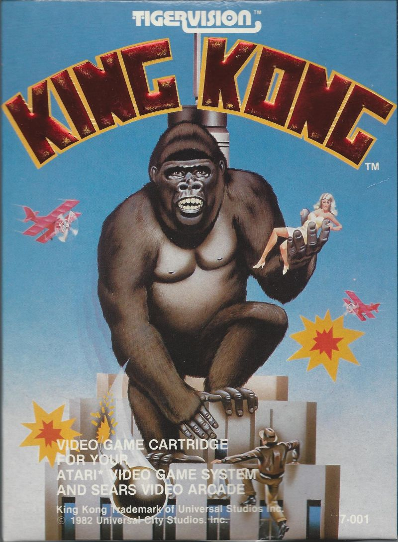 King Kong Atari 2600 Front Cover