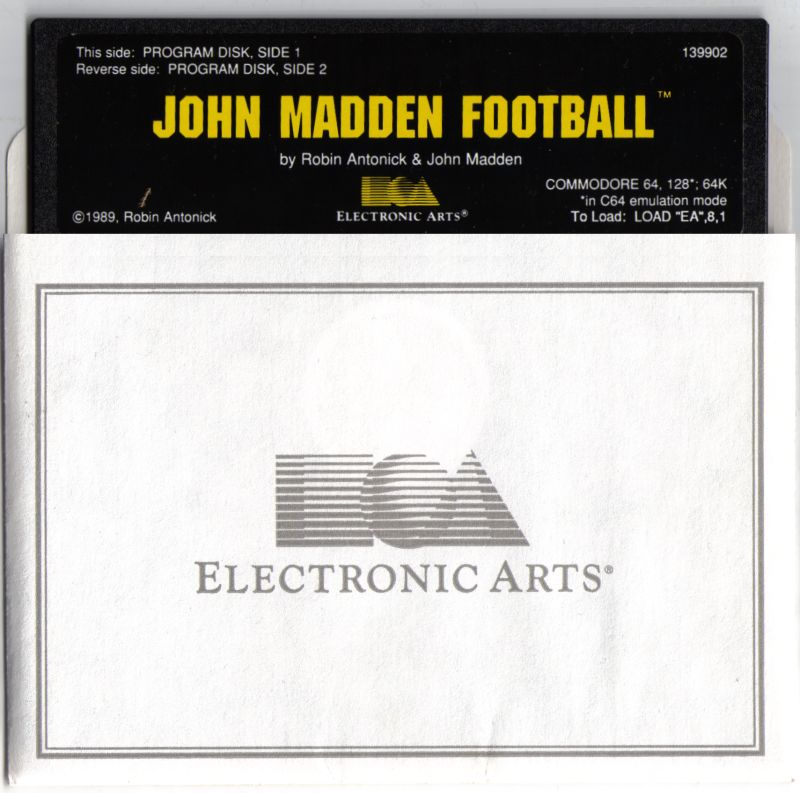 John Madden Football Commodore 64 Media