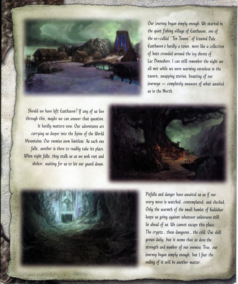 Icewind Dale Windows Inside Cover Left Flap
