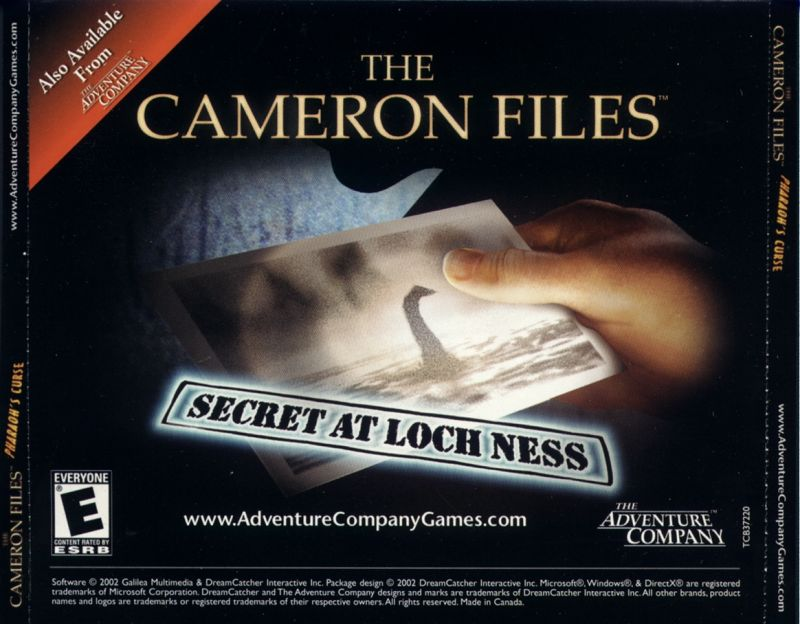 The Cameron Files: Pharaoh's Curse Windows Other Jewel Case - back
