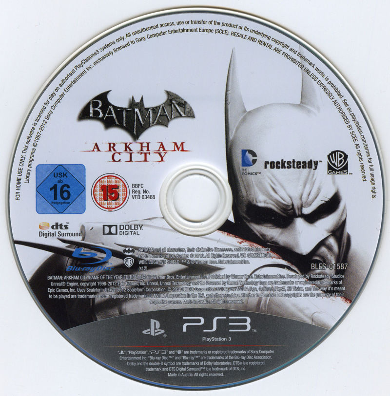 Batman: Arkham City - Game of the Year Edition PlayStation 3 Media