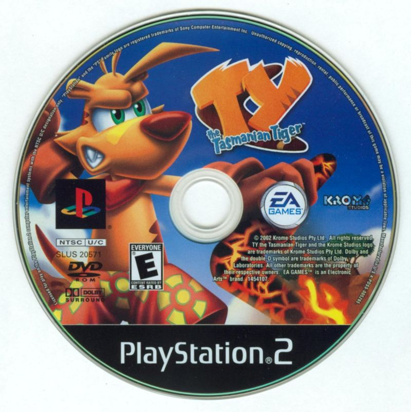 Ty the Tasmanian Tiger PlayStation 2 Media