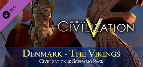 Sid Meier's Civilization V: Civilization and Scenario Pack: Denmark - The Vikings Linux Front Cover