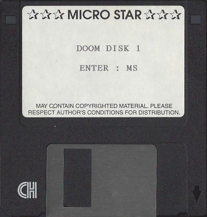 DOOM DOS Media Disc 1/2