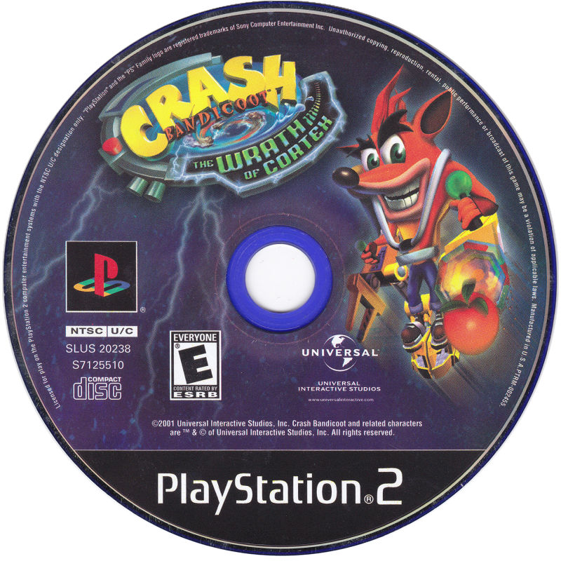Crash Bandicoot: The Wrath of Cortex PlayStation 2 Media
