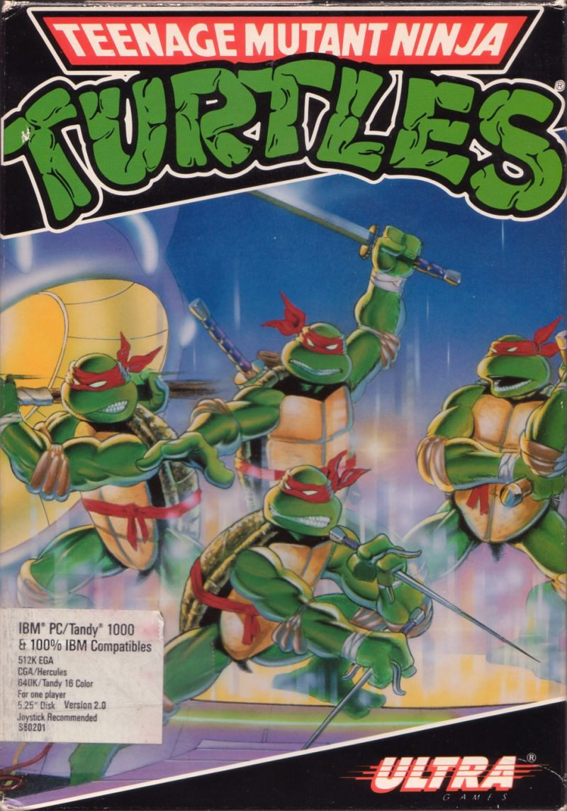Teenage Mutant Ninja Turtles DOS Front Cover