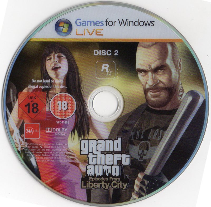 Grand Theft Auto: Episodes from Liberty City Windows Media Disc 2/2