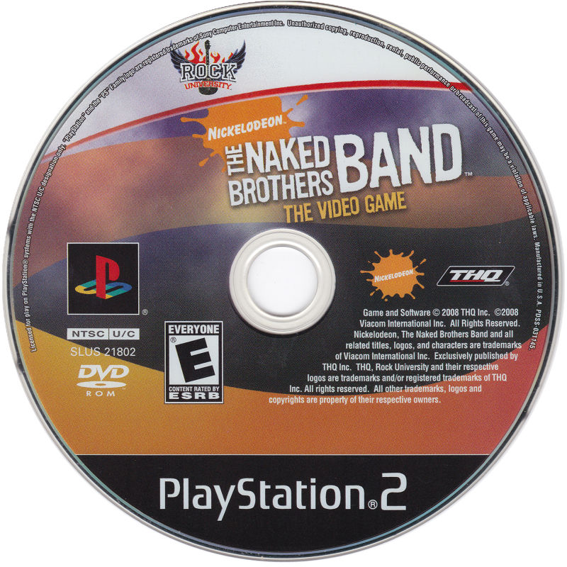 The Naked Brothers Band: The Video Game PlayStation 2 Media