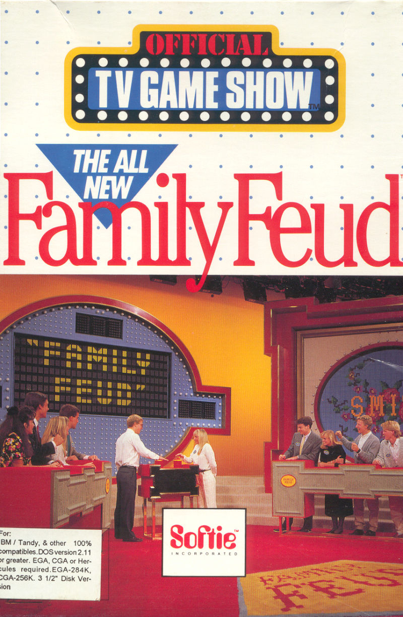The All New Family Feud DOS Front Cover