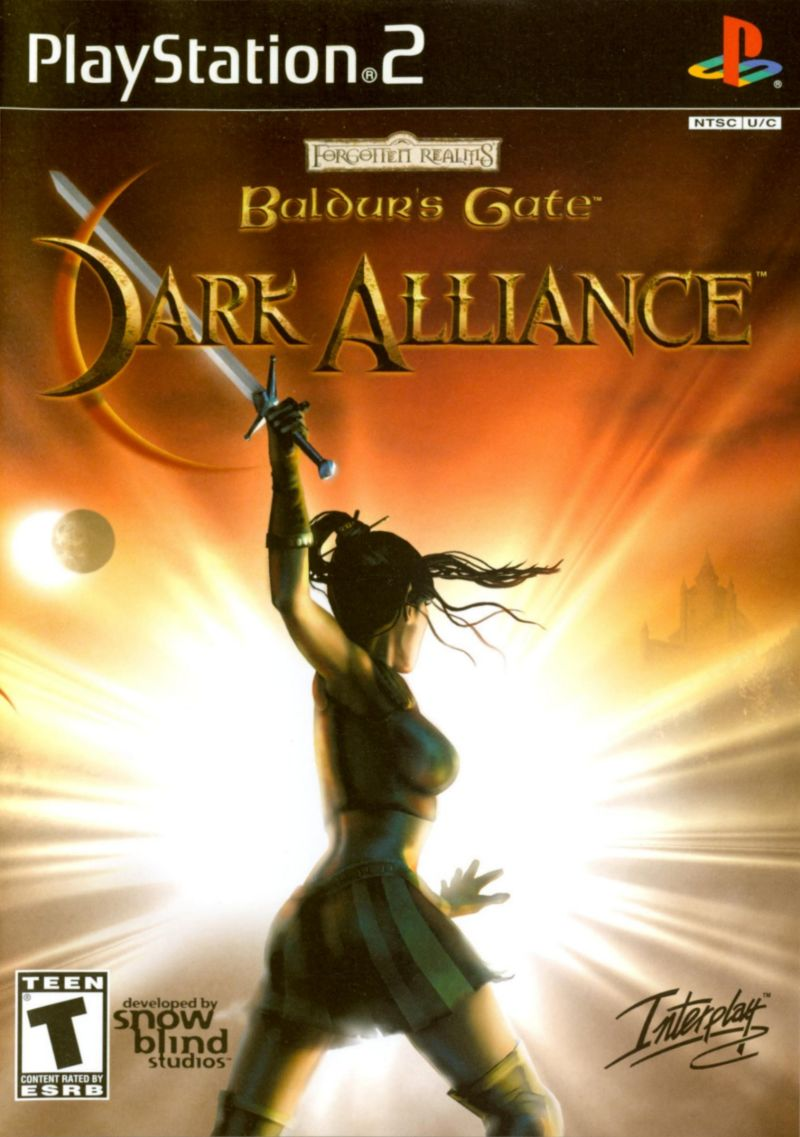 Baldur's Gate: Dark Alliance PlayStation 2 Front Cover