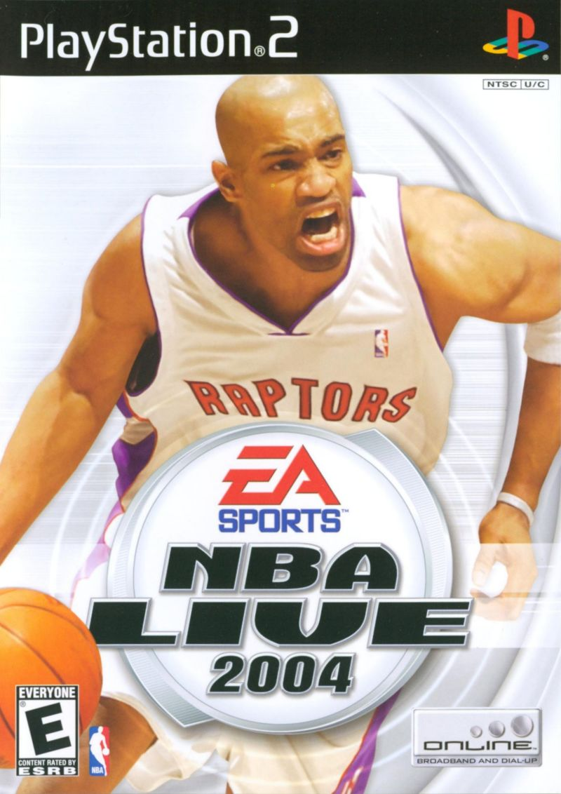 NBA Live 2004 PlayStation 2 Front Cover
