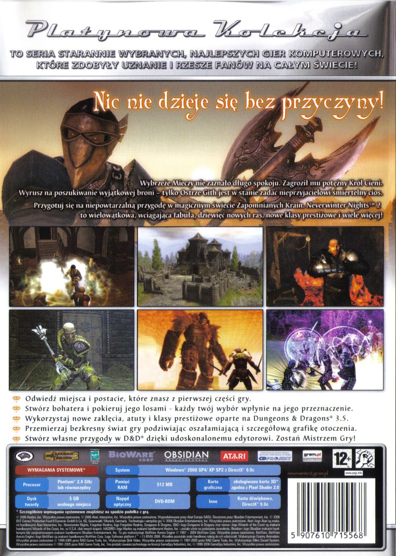 Neverwinter Nights 2 Windows Other Keep Case - Back