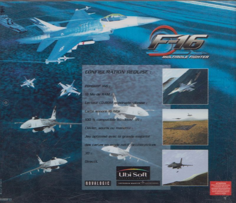F-16 Multirole Fighter Windows Other Jewel Case - Back