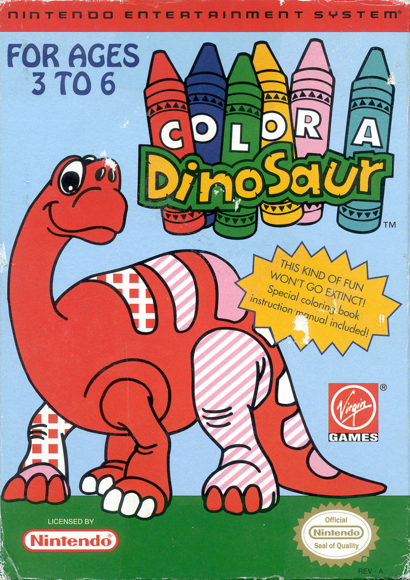 Color a Dinosaur NES Front Cover