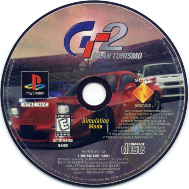 Gran Turismo 2 PlayStation Media Disc 2